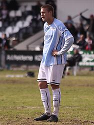 FODBOLD: Jonas Hagmann (Helsingør) under kampen i Danmarksserien, pulje 1, mellem HB Køge og Elite 3000 Helsingør den 1. april 2010 på Køge Stadion. Foto: Claus Birch