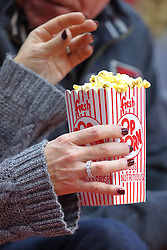 14 January 2017:  Popcorn during an NCAA  MVC (Missouri Valley conference) mens basketball game between the Wichita State Shockers the Illinois State Redbirds in  Redbird Arena, Normal IL