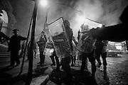 Cellerini durante la manifestazione 'One Solution Revolution' dopo l'elezione del presidente della Repubblica. Roma, 20 aprile 2013. Christian Mantuano / Oneshot