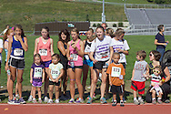 Central Valley, New York - Young runners wait to compete in the Coach/Judge Ed Kellmen Ramble Scramble on Aug. 26, 2012.