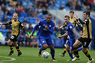 Kenneth Zohore of Cardiff city © in action. EFL Skybet championship match, Cardiff city v Sheffield Wednesday at the Cardiff City Stadium in Cardiff, South Wales on Saturday 16th September 2017.<br /> pic by Andrew Orchard, Andrew Orchard sports photography.