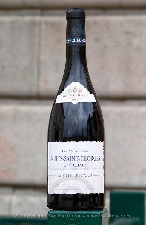 nuits st georges 1er cru dom m picard chateau de ch-m chassagne-montrachet cote de beaune burgundy france