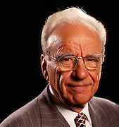 The Australian media mogul, Rupert Murdoch, photographed in his London offices.