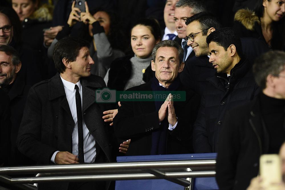 November 6, 2019, Paris, France, France: Leonardo - Directeur sportif du PSG / Nicolas Sarkozy / Nasser Al Khelaifi - president du PSG (Credit Image: © Panoramic via ZUMA Press)