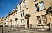 Georgian terraced houses, Beaufort Square, Bath