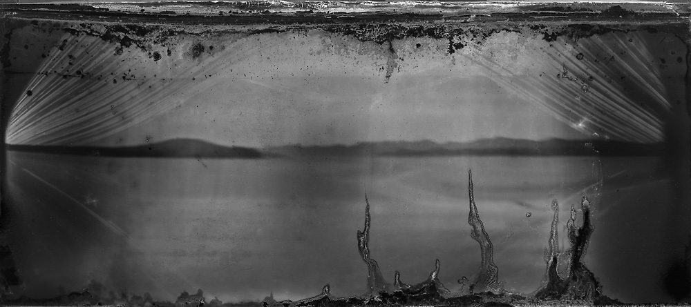 Head of the Bay - Waterlog - 195 mls<br /> 2016.<br /> 470 x 210 mm.<br /> Pigment ink on paper.<br /> <br /> New Zealand Painting and Printmaking Award 2017. <br /> Selected by Roger Boyce.<br /> <br /> First shown in the Hamilton Garden Arts Festival, Hamilton, New Zealand. (2017, 17 - 26 February).