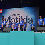 Matilda The Musical performs at West End Live 2019 - Day 2 in Trafalgar Square, on 23 June 2019, London, UK.
