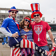 January 23, 2016, USA vs Ireland, Qualcomm Stadium, San Diego, California, USA:  Photos from the American Outlaws tailgate before the USA vs Ireland women's national team soccer game at Qualcomm Stadium in San Diego, California, USA.  Part of the fun is dressing up.