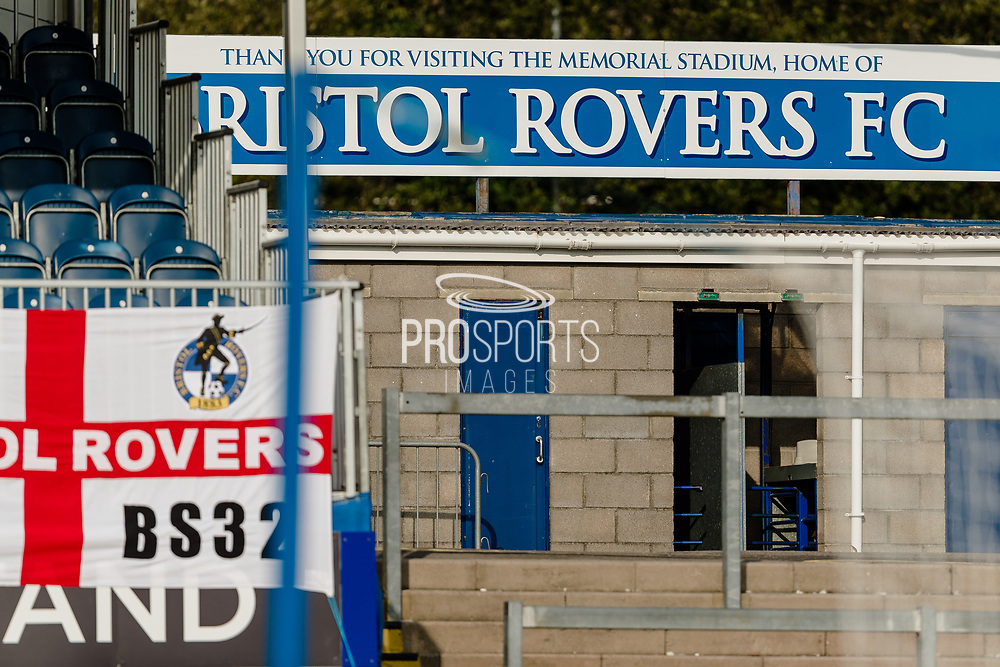 Bristol Rovers stadium during the EFL Sky Bet League 1 match between Bristol Rovers and Ipswich Town at the Memorial Stadium, Bristol, England on 19 September 2020.