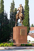 King Nikola, 1841-1921 equestrian statue, ruler of Montenegro. on the Sveti Petra Saint Peter boulevard Podgorica capital. Montenegro, Balkan, Europe.