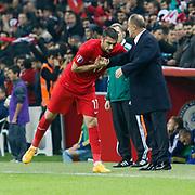 Turkey's Burak Yilmaz celebrate his goal during their UEFA Euro 2016 qualification Group A soccer match Turkey betwen Kazakhstan at AliSamiYen Arena in Istanbul November 16, 2014. Photo by Kurtulus YILMAZ/TURKPIX