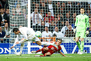 Champions League semi final second leg soccer match between Real Madrid and FC Bayern Munich at the Santiago Bernabeu stadium in Spain - <br /> MADRID 25/04/2012<br /> ESTADIO SANTIAGO BERNABEU.<br /> half final, Halbfinale, Semifinale,  CHAMPIONS LEAGUE<br /> REAL MADRID 2 - BAYERN 1<br /> picture: Cristiano Ronaldo.- fee liable image, copyright © ATP QUEEN INTERNACIONAL<br /> <br /> Real MADRID vs Fc BAYERN Match 2:1 und 3:1 im Elfmeterschieflen - and 3:1 in penalty shooting - Queen photographer Fernando ALVAREZ