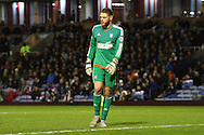 Ipswich Town goalkeeper Dean Gerken looks on. Skybet football league Championship match, Burnley v Ipswich Town at Turf Moor in Burnley, Lancs on Saturday 2nd January 2016.<br /> pic by Chris Stading, Andrew Orchard sports photography.