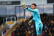 Oxford United's goalkeeper Simon Eastwood (1) during the EFL Sky Bet League 1 match between Burton Albion and Oxford United at the Pirelli Stadium, Burton upon Trent, England on 2 February 2019.