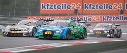 02.08.2015, Red Bull Ring, Spielberg, AUT, DTM Red Bull Ring, Rennen, im Bild v.l.: Robert Wickens (CAN, Mercedes-AMG C 63 DTM), Edoardo Mortara (ITA, Audi RS 5 DTM), Timo Scheider (GER, Audi RS 5 DTM) // during the DTM Championships 2015 at the Red Bull Ring in Spielberg, Austria, 2015/08/02, EXPA Pictures © 2015, PhotoCredit: EXPA/ Dominik Angerer