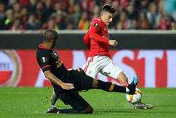 February 21, 2019 - Lisbon, Portugal - Franco Cervi of SL Benfica in action during the Europa League 2018/2019 footballl match between SL Benfica vs Galatasaray AS. (Credit Image: © David Martins/SOPA Images via ZUMA Wire)