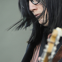 Jack Lawrence of The Raconteurs at the New American Music Union in Pittsburgh, PA on August 9, 2009.