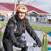 NLD/Biddinghuizen//20170305 - De Hollandse 100 - Stichting Lymph & Co 2017, Prinses Annette op de racefiets