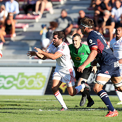 Maxime Lucu of Biarritz during the test match between Bordeaux Begles and Biarritz at Stade Chaban-Delmas on August 4, 2017 in Bordeaux, France. (Photo by Manuel Blondeau/Icon Sport)