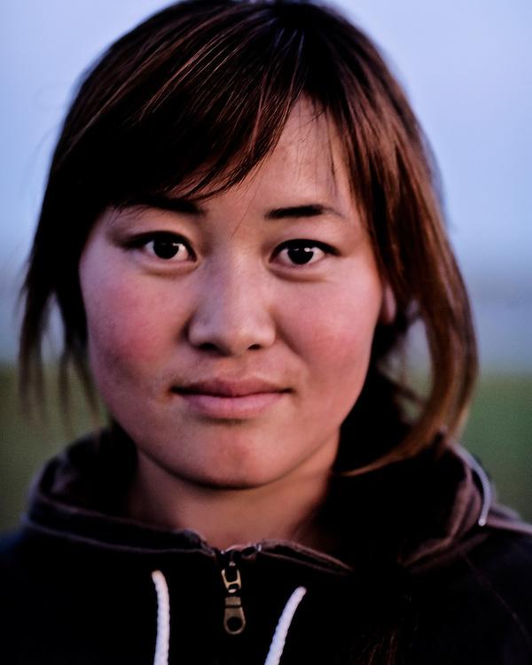 Portraits of a Mongolian Girl
