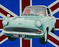 The Ford Anglia is a somewhat weird car from the 60's of last century. Maybe you don't see such a Ford Anglia every day but you do know it.  It's the car Harry Potter flies with in a story. Brits really have a sense of humor to drive around with a car like the Ford Anglia.<br />
