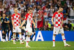 July 15, 2018 - Moscow, Russia - 180715 Luka Modric and Marcelo Brozovic of Croatia looks dejected after Antoine Griezmann of France (not pictured) scored 2-1 during the FIFA World Cup final match between France and Croatia on July 15, 2018 in Moscow..Photo: Petter Arvidson / BILDBYRÃ…N / kod PA / 92087 (Credit Image: © Petter Arvidson/Bildbyran via ZUMA Press)