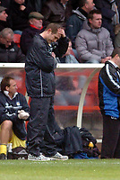 Photo: Leigh Quinnell.<br /> Nottingham Forest v Colchester United. Coca Cola League 1. 08/04/2006. Colchester manager Phil Parkinson is upset with the result.
