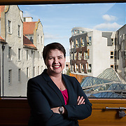 Scottish Conservatives leader Ruth Davidson at Holyrood, Edinburgh. Picture Robert Perry  for The Times 28th Sept 2017