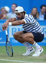 Spain's Feliciano Lopez during day five of the 2017 AEGON Championships at The Queen's Club, London.