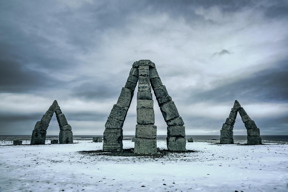 The Arctic Henge sculpture by Erlingur B Thoroddsen at North Iceland
