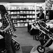 Jen (right) and Jane shopping for baby items in Sydney, Australia, October 2008. Photo by Tim Clayton..