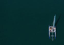 THEMENBILD - Menschen auf einem Katamaran sonnen sich am Zeller See, aufgenommen am 30. Juni 2019 in Zell am See, Österreich // People on a catamaran sunbathe at Lake Zell, Zell am See, Austria on 2019/06/30. EXPA Pictures © 2019, PhotoCredit: EXPA/ JFK