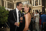 Sebastian Horsley and Emma Parker Bowles, Tatler Summer party ( in association with Fendi) Home House, Portman Sq. 29 June 2006. ONE TIME USE ONLY - DO NOT ARCHIVE  © Copyright Photograph by Dafydd Jones 66 Stockwell Park Rd. London SW9 0DA Tel 020 7733 0108 www.dafjones.com