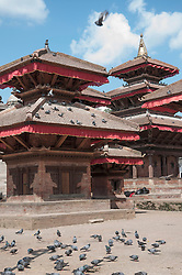 Durbar Square with pigeons