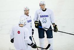 Jan Mursak and Jan Urbas during practice session of Slovenian Ice Hockey National Team at training camp, on February 8th, 2016 in Ledna dvorana, Bled, Slovenia. Photo by Vid Ponikvar / Sportida