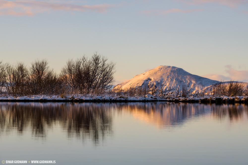 Lake Myvatn in January