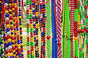03 NOVEMBER 2012 - HAT YAI, SONGKHLA, THAILAND:  Decorative beads and lassos for sale to bull owners at the bullfighting arena in Hat Yai, Songkhla, Thailand. The bulls wear the beads and lassos before their fights. Bullfighting is a popular past time in southern Thailand. Hat Yai is the center of Thailand's bullfighting culture. In Thai bullfights, two bulls are placed in an arena and they fight, usually by head butting each other until one runs away or time is called. Huge amounts of mony are wagered on Thai bullfights - sometimes as much as 2,000,000 Thai Baht ($65,000 US).      PHOTO BY JACK KURTZ
