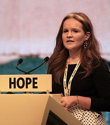 SNP Spring Conference, Saturday 27th April 2019<br /> <br /> Pictured: Young Scots for Independence speaker Robyn Graham<br /> <br /> Alex Todd | Edinburgh Elite media