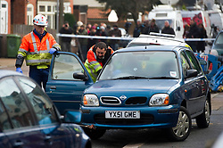 © under license to London News Pictures.  13.12.10. A car is taken away from the  former home of suspected Stockholm suicide bomber Taimour al-Abdaly in Luton Bedfordshire. Picture Caption should read Simon Jacobs/London News Pictures