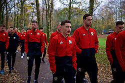 CARDIFF, WALES - Friday, November 16, 2018: Wales' Harry Wilson during a pre-match walk at the Vale Resort ahead of the UEFA Nations League Group Stage League B Group 4 match between Wales and Denmark. (Pic by David Rawcliffe/Propaganda)