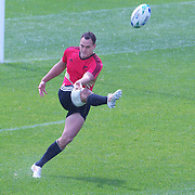 Israel Dagg, New Zealand, during All Black's training at Smart Stadium, Auckland,  in preparation for the Rugby World Cup Final against France at the IRB Rugby World Cup tournament, Auckland, New Zealand. 18th October 2011. Photo Tim Clayton...