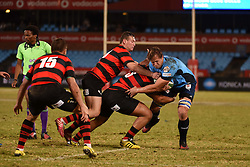 Burger Odendaal is tackled during the Currie Cup premier division match between the Blue Bulls and EP Kings held at Loftus Versfeld stadium, Pretoria, South Africa on the 19th August 2016Photo by:   Real Time Images