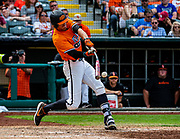 OSU's #12, Carson McCusker swinging for the fence during The Big 12 Championship Game on Sunday, May 26, 2019 at the Chickasaw Bricktown Ballpark in Oklahoma City, OK.