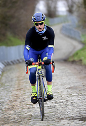 March 30, 2018 - Oudenaarde, Belgique - Oudenaarde, Belgium - March 30 : SMITH Dion (NZL) of Wanty - Groupe Gobert during a training session prior to the Flanders Classics UCI WorldTour 102nd Ronde van Vlaanderen cycling race with start in Antwerpen and finish in Oudenaarde on March 30, 2018 in Oudenaarde, Belgium 30/03/2018 (Credit Image: © Panoramic via ZUMA Press)