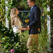 Kristen and Sam Engagement at the Tea Garden