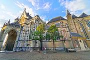 Nederland, Nijmegen, 6-10-2020 De protestantse Stevenskerk .Hij wordt vooral gebruikt voor culturele manifestaties en bijeenkomsten , en nauwelijks als gebedshuis . Veel bezoekers zijn buitenlandse toeristen die een riviercruise maken en in nijmegen een stop maken . Foto: ANP/ Hollandse Hoogte/ Flip Franssen