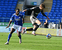 Football - 2020 / 2021- Championship -Cardiff City vs Sheffield Wednesday<br />      <br /> Adam Reach of Sheffield Wednesday intercepts a pss to Joe Bennett of Cardiff City 						<br /> in a match played without fans at the Cardiff City Stadium.<br /> <br /> COLORSPORT/WINSTON BYNORTH