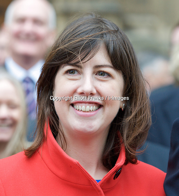 Lucy Powell MP, outside St Stephen's Gate, November 19, 2012. Westminster, London, Great Britain. Photo by Elliott Franks / i-Images.