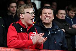 Bristol City fans - Mandatory by-line: Dougie Allward/JMP - 16/04/2016 - FOOTBALL - Griffin Park - Brentford, England - Brentford v Bristol City - Sky Bet Championship
