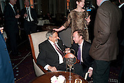 SIR V.S. NAIPAUL; GEORDIE GREIG,Ella Krasner and Pablo Ganguli host a Liberatum dinner in honour of Sir V.S.Naipaul. The Landau at the Langham. London. 23 November 2010. -DO NOT ARCHIVE-© Copyright Photograph by Dafydd Jones. 248 Clapham Rd. London SW9 0PZ. Tel 0207 820 0771. www.dafjones.com.